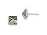 Chisel Stainless Steel Polished Post Earrings style: SRE892