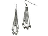 Chisel Stainless Steel Polished Dangle Shepherd Hook Earrings style: SRE956