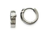 Chisel Stainless Steel Polished Hinged Hoop Earrings style: SRE975