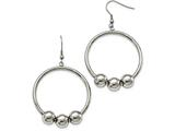 Chisel Stainless Steel Polished Shepherd Hook Earrings style: SRE989