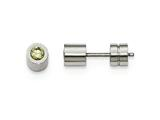 Chisel Stainless Steel Cz August Birthstone Polished Post Earrings style: SRE993