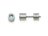 Chisel Stainless Steel Cz Dec Birthstone Polished Post Earrings style: SRE995