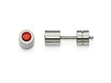 Chisel Stainless Steel Cz July Birthstone Polished Post Earrings style: SRE998