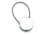 Chisel Stainless Steel Polished Cable Circle Key Ring style: SRK132