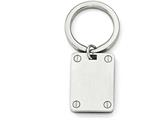 Chisel Stainless Steel Polished And Brushed Key Ring style: SRK133