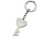 Chisel Stainless Steel Polished Key With Heart Key Ring style: SRK135