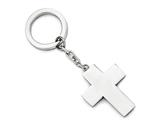Chisel Stainless Steel Polished Cross Key Ring style: SRK136