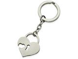 Chisel Stainless Steel Polished Heart-shaped Lock Key Ring style: SRK137