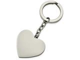 Chisel Stainless Steel Polished Heart Key Ring style: SRK138