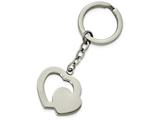 Chisel Stainless Steel Polished Double Heart Key Ring style: SRK140