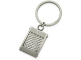 Chisel Stainless Steel Brushed And Polished Grey Carbon Fiber Key Chain style: SRK142
