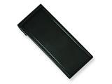 Chisel Stainless Steel Black-plated Money Clip