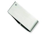 Chisel Stainless Steel Diamond Accent Money Clip style: SRM122