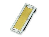 Chisel Stainless Steel 24k Gold-plating Money Clip