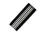 Chisel Stainless Steel Brushed And Polished Black Ip-plated Money Clip style: SRM147