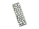Chisel Stainless Steel Textured and Polished Money Clip style: SRM151