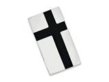 Chisel Stainless Steel Black Enamel and Polished Money Clip style: SRM152