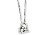 Chisel Stainless Steel Heart W/czs Pendant 18in Necklace style: SRN101418