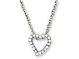 Chisel Stainless Steel Cz Heart Pendant 18in Necklace style: SRN102918