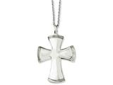 Chisel Stainless Steel Polished Cross 18in Necklace style: SRN103218