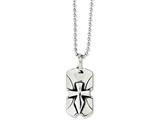 Chisel Stainless Steel  Dagger Cross Dog Tag 20in Necklace style: SRN103420