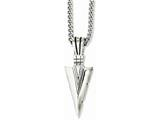 Chisel Stainless Steel Polished and Antiqued Dagger 22in Necklace style: SRN104822