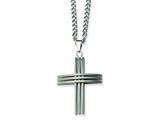Chisel Stainless Steel Cross Necklace - 24 inches style: SRN107