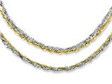 Chisel Stainless Steel Polished and Yellow Ip-plated 17.5in Layered Necklace style: SRN1084175
