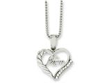 Chisel Stainless Steel Mom W/cz 18in Necklace style: SRN108618