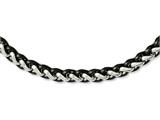 Chisel Stainless Steel Polished and Black Ip-plated 24in Necklace style: SRN109024