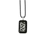 Chisel Stainless Steel Black Ip-plated W/dragon Dog Tag 20in Necklace style: SRN112720