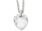 Chisel Stainless Steel Crystal Heart and Czs 18in Necklace style: SRN114618
