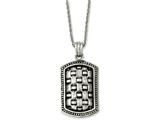 Chisel Stainless Steel Antiqued Dog Tag 24in Necklace style: SRN114924