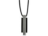 Chisel Stainless Steel Polished and Black Ip-plated Necklace style: SRN115520
