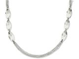 Chisel Stainless Steel Fancy 18in Necklace style: SRN116518