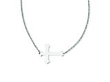 Stainless Steel Polished Sideways Cross Necklace style: SRN1180