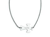 Stainless Steel Faith Large Sideways Cross  Necklace style: SRN1182