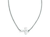 Stainless Steel Faith Small Sideways Cross Necklace style: SRN1183
