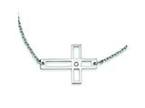 Stainless Steel Cross Cut Out Sideways Cross Necklace style: SRN1194