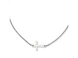 Chisel Stainless Steel Polished Sideways Cross  Necklace style: SRN120816
