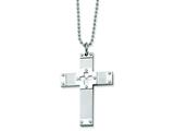 Chisel Stainless Steel Cross Necklace - 24 inches style: SRN121