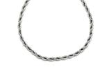 Chisel Stainless Steel Polished 6mm Rope Necklace style: SRN124320