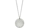 Chisel Stainless Steel Circular Pendant Necklace style: SRN127018
