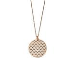 Chisel Stainless Steel Pink Ip-plated Pendant Necklace style: SRN127118