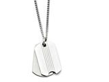 Chisel Stainless Steel Polished Two Piece Dog Tag Pendant Necklace style: SRN127322