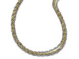 Chisel Stainless Steel Polished and Yellow Ip-plated 1layered Necklace style: SRN1275175