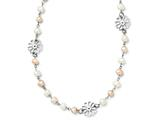 Chisel Stainless Steel Slip-on Fw Cultured Pearl With Flowers Necklace style: SRN1280325