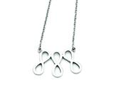 Stainless Steel Infinity Symbol Polished Necklace style: SRN1284