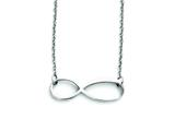 Stainless Steel Infinity Symbol Polished Necklace style: SRN1289
