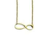 Stainless Steel Infinity Yellow Ip-plated Polished Infinity Necklace style: SRN1290